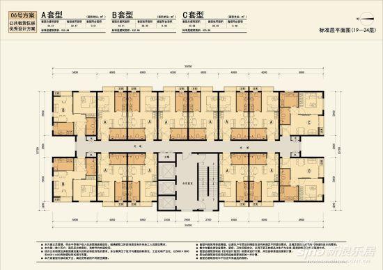 住不足征公租房意见术语最小专业建部34平_政cad户型的图纸户型图片